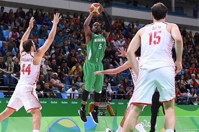DTigers Out Of Rio Olympics    Nigeria VsCroatia during a basketball game at the 2016 Summer Olympics in Rio de Janeiro Brazil Saturday Aug. 13 2016. (AP Photo/Charlie Neibergall)  Nigeria's D'Tigers crashed out of the Rio 2016 men's basketball event after losing 86-68 to hosts Brazil in their final group game today.(15 August 2016)  DTigers needed to beat the hosts to be stand any chance of making it to the quarter finals but having done enough to win the first quarter 16-15 the African…