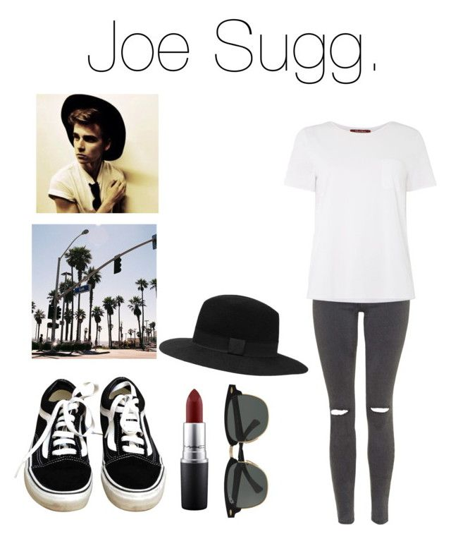 """""""Joe Sugg Inspired Outfit"""" by sophie-irwin ❤ liked on Polyvore featuring Topshop, MAC Cosmetics, Vans, Witchery, MaxMara and Ray-Ban"""