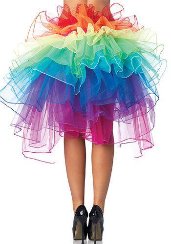 Rainbow Bustle Skirt