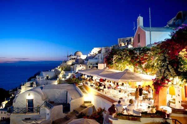 Oia en Santorini, Grecia.