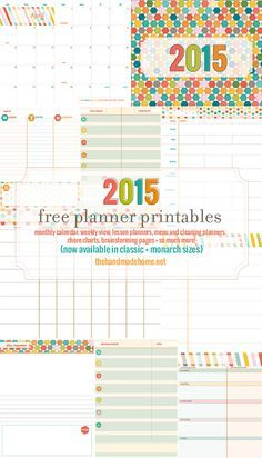 amazing, organized, colorful, + FREE!  Plus, she added chore charts, menu planner, shopping lists, cleaning charts, + homeschooling lesson planning pages!