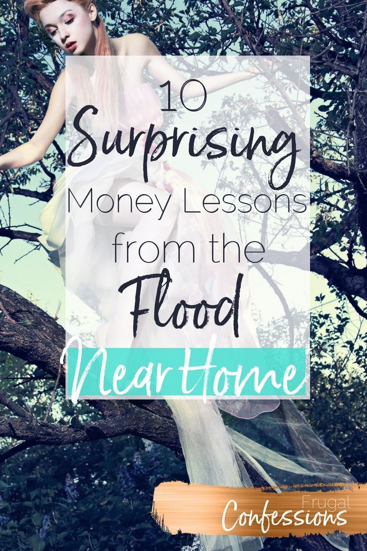 I would have never learned these money lessons about flood insurance, repairs, tips, etc. if there had not been a flood disaster with lots of water damage just blocks from our home. | http://www.frugalconfessions.com/financial-health/10-surprising-financial-realities-i-learned-from-the-flood-disaster-near-our-home.php