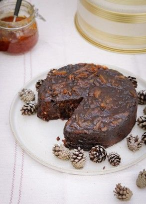 """Date and Marmalade Christmas Cake: This cake tastes like Christmas pudding – a very, very good Christmas pudding – the sort the Quakers (as I'm fond of quoting) once magnificently condemned as """"the invention of the scarlet whore of Babylon"""". It's rich, damp, treacly and so heady, it doesn't even need the traditional alcohol in it."""