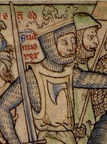 Sweyn I Forkbeard (960 - 1014). King of Denmark from 986 until his death in 1014. King of Norway from 986 to 995 and again from 999 to 1014. King of England from 1013 to 1014. He married twice and had children from both marriages. There is some debate as to whether Sweyn was a Christian or a Pagan.