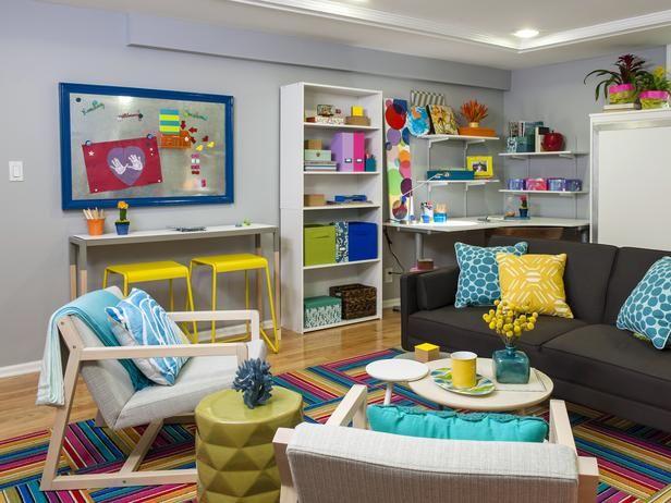 Decorating Decorating Experts Decorating Hgtv Family Basement Basement