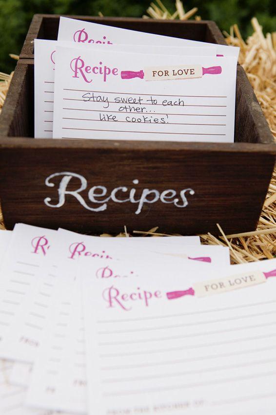 Het recept voor een geslaagd huwelijk (gastenboek) en andere 'boerenbruiloft' ideetjes