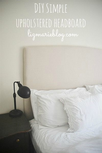 812 best images about diy love on pinterest diy pendant for Easy to make headboard ideas