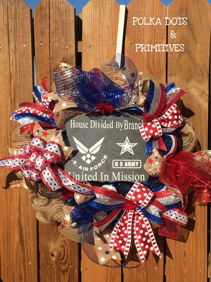 Patriotic Wreath 4th Of July Wreath Front Door Decor