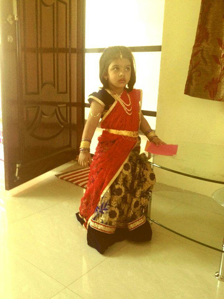 Cute in HAlf saree