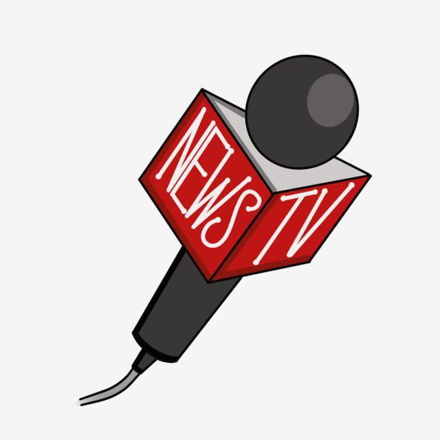 Cartoon Flat News Interview Microphone, Cartoon, Flat ...