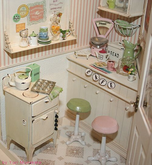 Dollhouse Miniatures Chicago: 156 Best Images About Dollhouse Kitchens On Pinterest