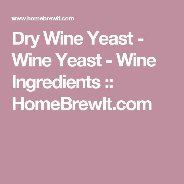 Dry Wine Yeast - Wine Yeast - Wine Ingredients  :: HomeBrewIt.com
