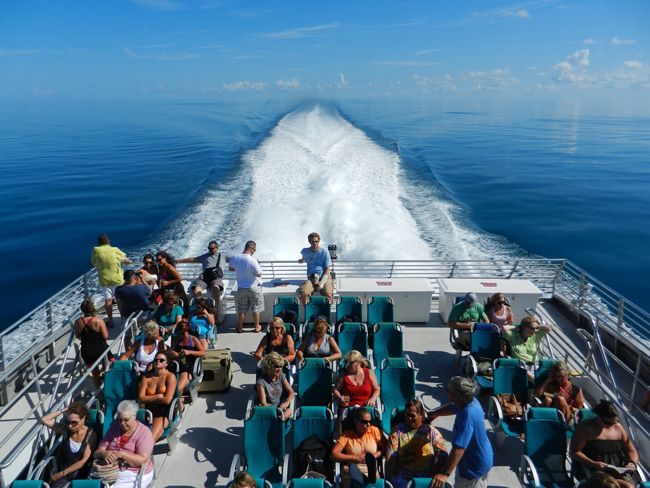 Riding the Key West Express to paradise! Have you taken the ferry?