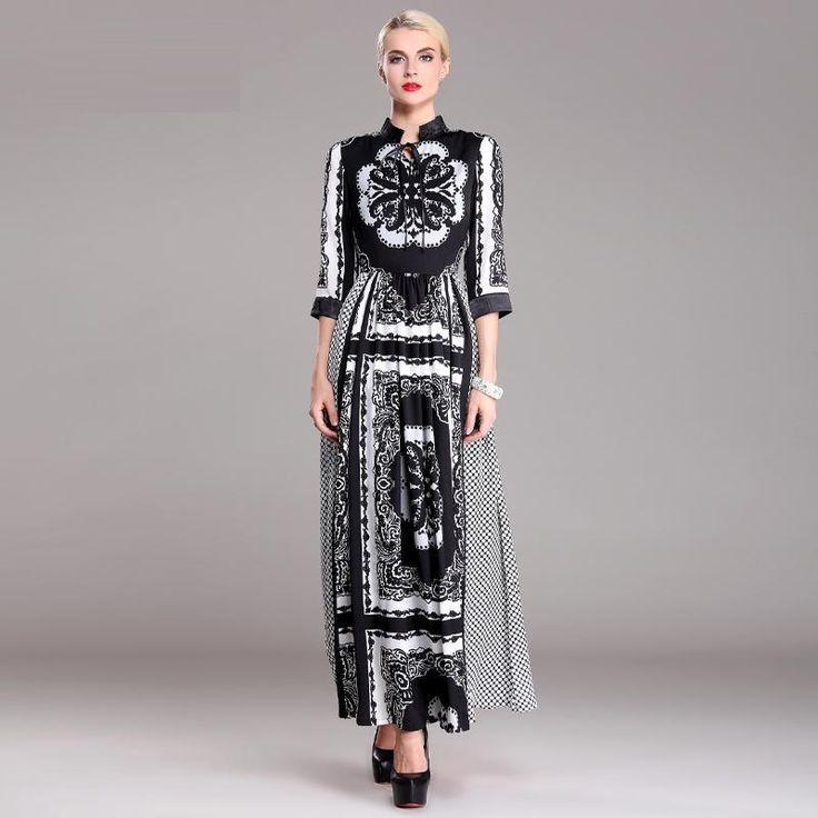 best verkrijgbare kwaliteit voor nieuw ontwerp mode stijl 2015 voorjaar vrouwen polka dot print bloemen vintage retro lange jurk maxi jurk plus xxxl in best verkrijgbare kwaliteit voor nieuw ontwerp mode stijl 2015 voorjaar vrouwen polka dot print bloemen vintage re van Jurken op AliExpress.com | Alibaba Groep