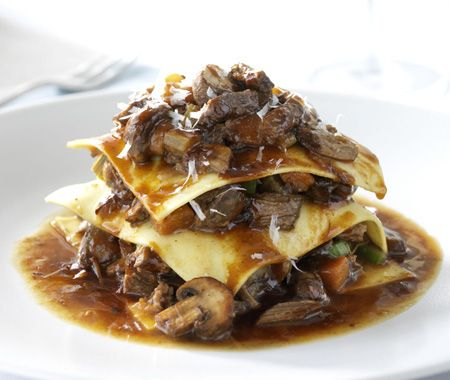 A classic lasagna with tender veal.