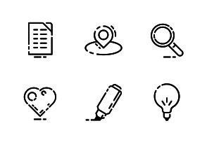 "Bold outline vector icons. ""Essentials"" set part1 #LineIcons #VectorIcons #essentialIcon"