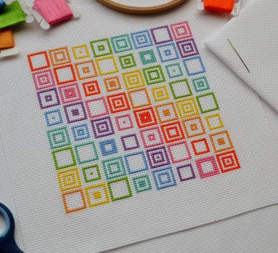 PDF Cross Stitch Pattern for Geometric by theworldinstitches