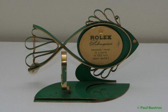 vintage rolex submariner advertising fish