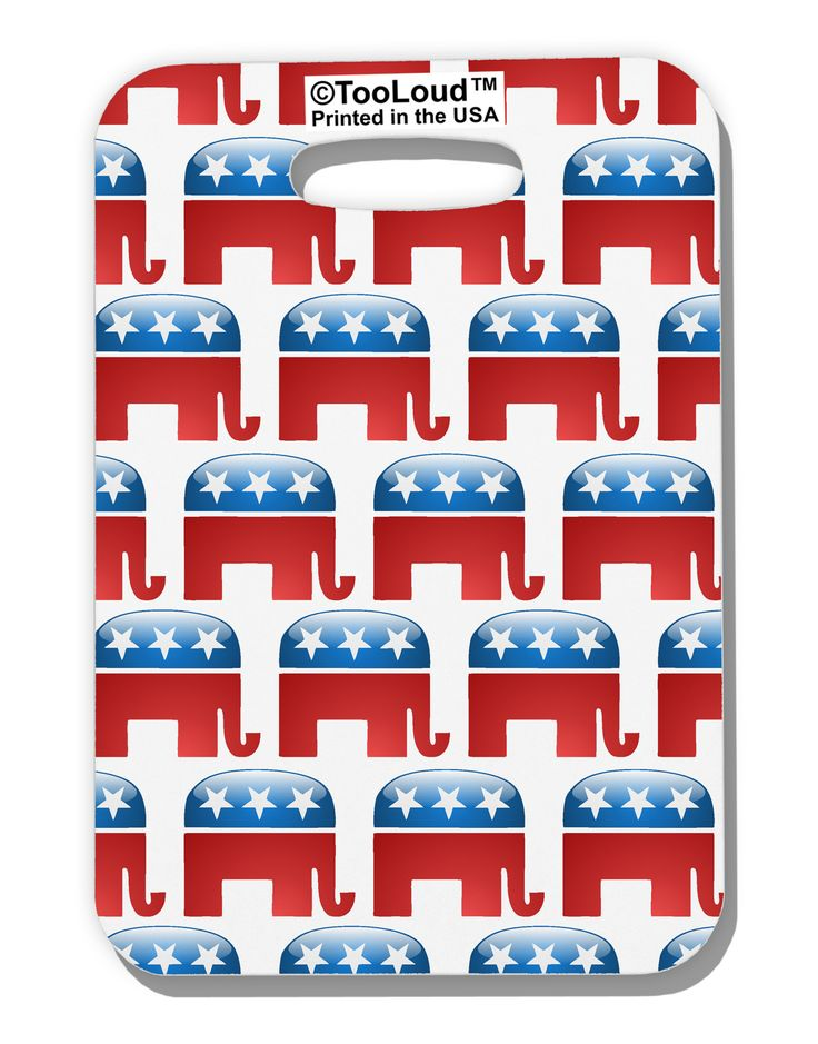 TooLoud Republican Symbol All Over Luggage Tag Single Side All Over Print