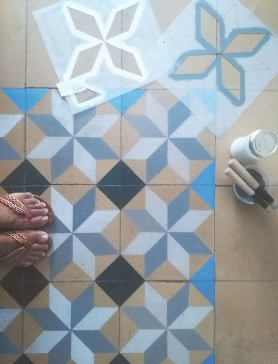 Las 25 mejores ideas sobre pisos pintados en pinterest for Pintar baldosas suelo