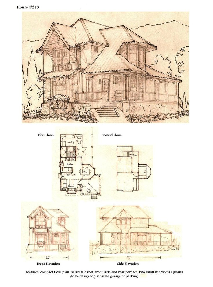 87 Best Images About Vintage House Plans Storybook On