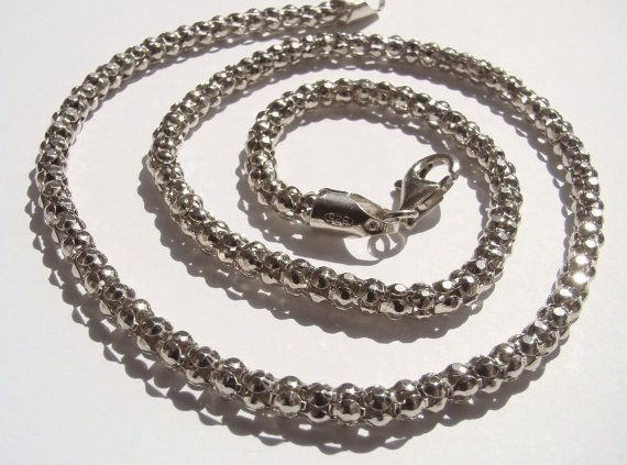 FANTASITC popcorn chain sterling silver 925 by DawidPandel on Etsy, zł90.00