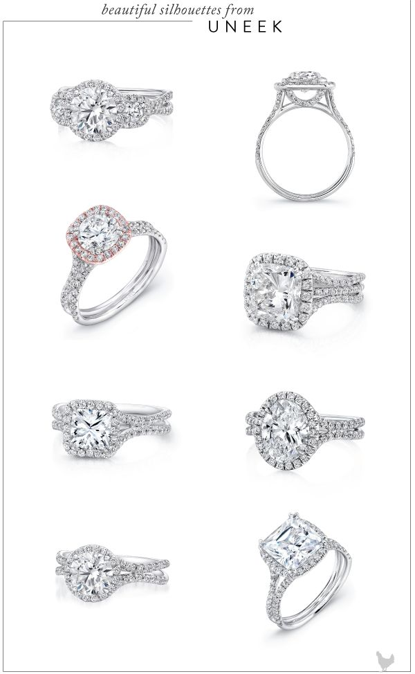 Engagement Ring Inspiration from Uneek, Natalie K, and Tacori - Southern Weddings Magazine #APBling || Aisle Perfect