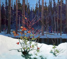 20 year exhibition of Robert Genn's paintings at Surrey Art Gallery in 2006, review by Anne Rosenberg for GalleriesWest.ca