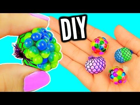DIY Mini Stress Balls! Orbeez & Mesh Slime Stress Ball Miniatures! - YouTube