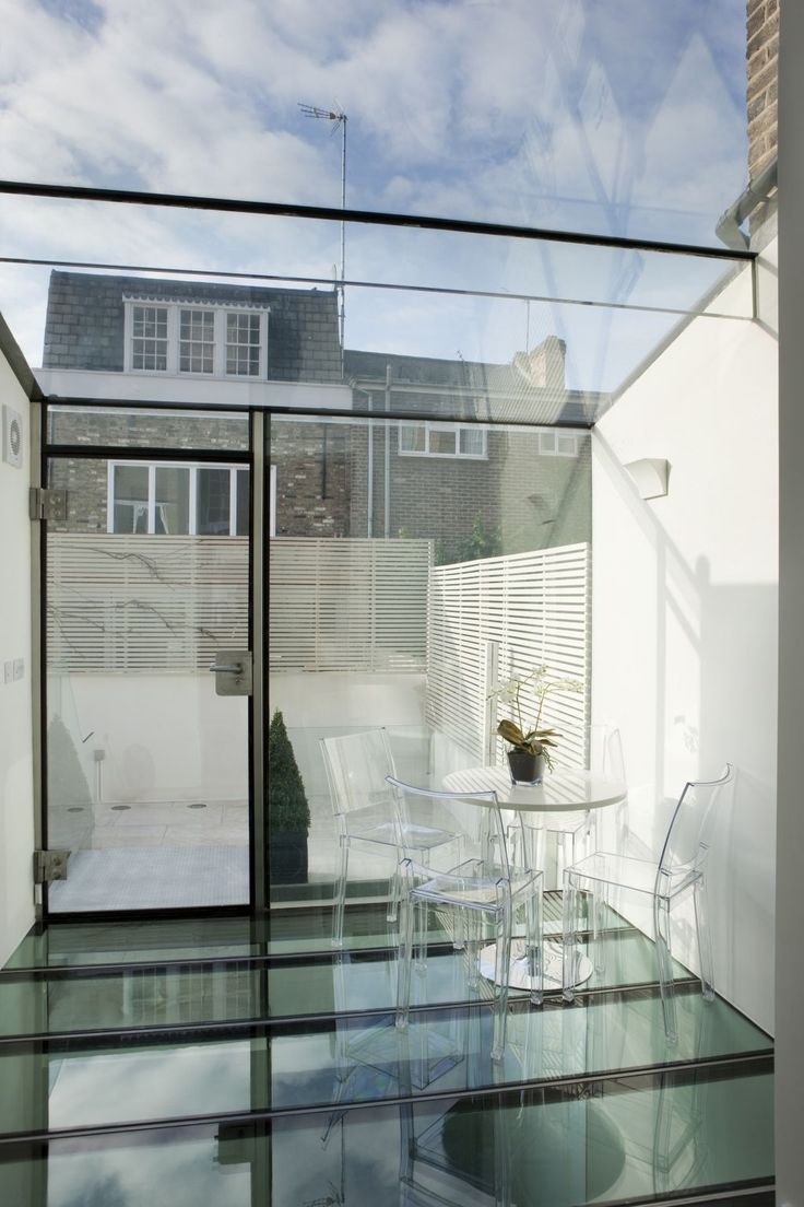 Home remodeling - South Kensington, London | London sky is reflected on the glass floor. |#designbest #project #interiordesign #artdecor #