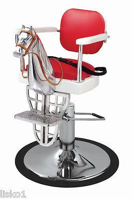 kids salon chair control room operator chairs pibbs cavallino 1801 barber horse head seat has hydraulic foot pump well built when ordering please include full shipping
