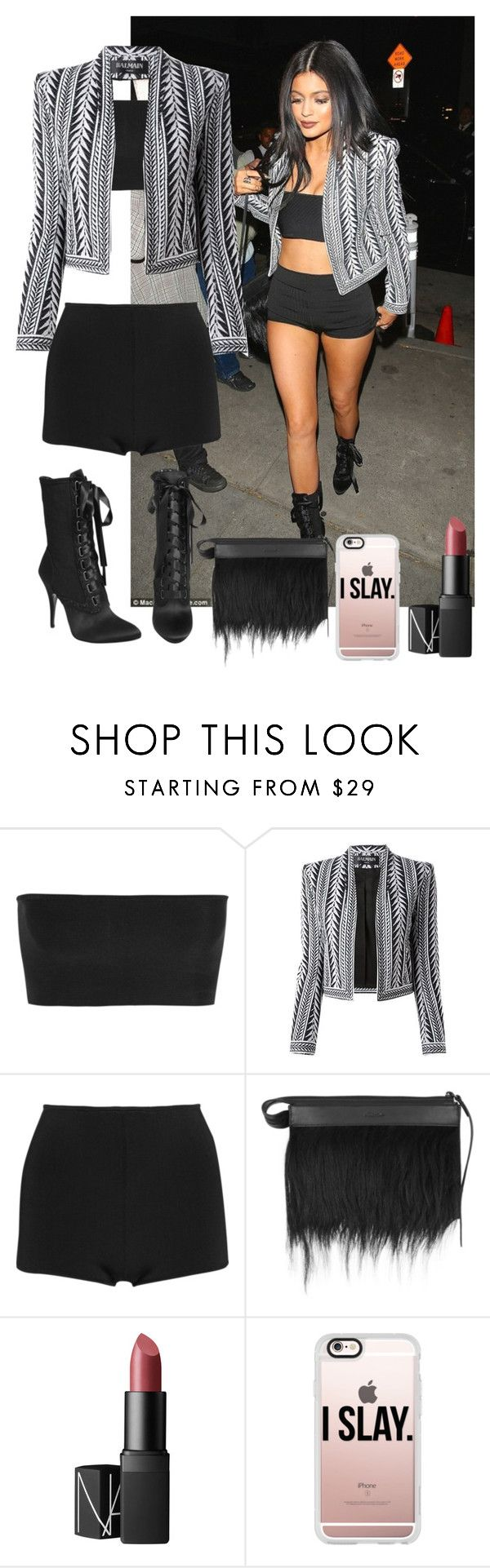 """""""Uber Everywhere-with them Kylie Jenner lips"""" by nasza100 ❤ liked on Polyvore featuring beauty, Balmain, Giuseppe Zanotti, 3.1 Phillip Lim, NARS Cosmetics and Casetify"""