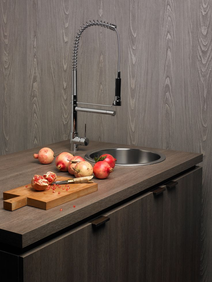 XyloCleaf chipboard for a traditional, yet modern twist on a #kitchen worktop sink