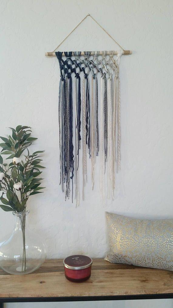Tapestry, Macrame, Yarn Tapestry, Yarn Wall Hanging, Wall Tapestry ...