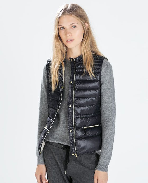 Image 1 of ULTRALIGHT DOWN QUILTED VEST from Zara