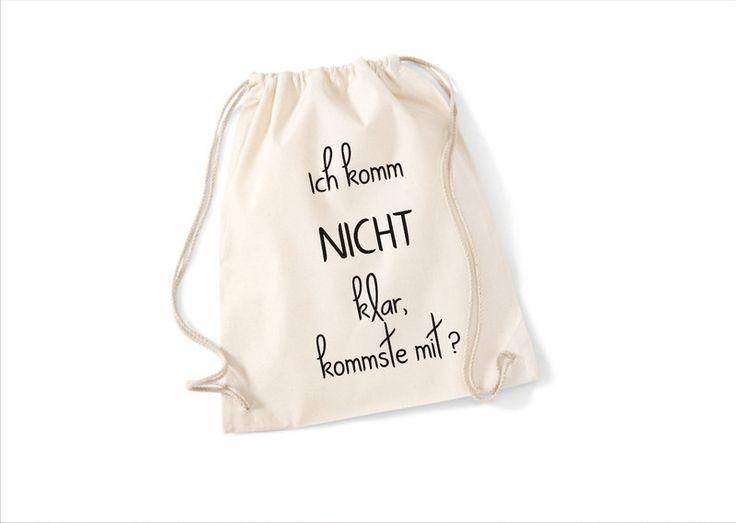 Turnbeutel Mit Spruch // Gym Bag With Quote Via DaWanda.com