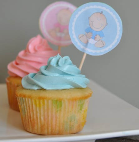 Baby Shower Cupcakes with Meringue Buttercream Frosting ...