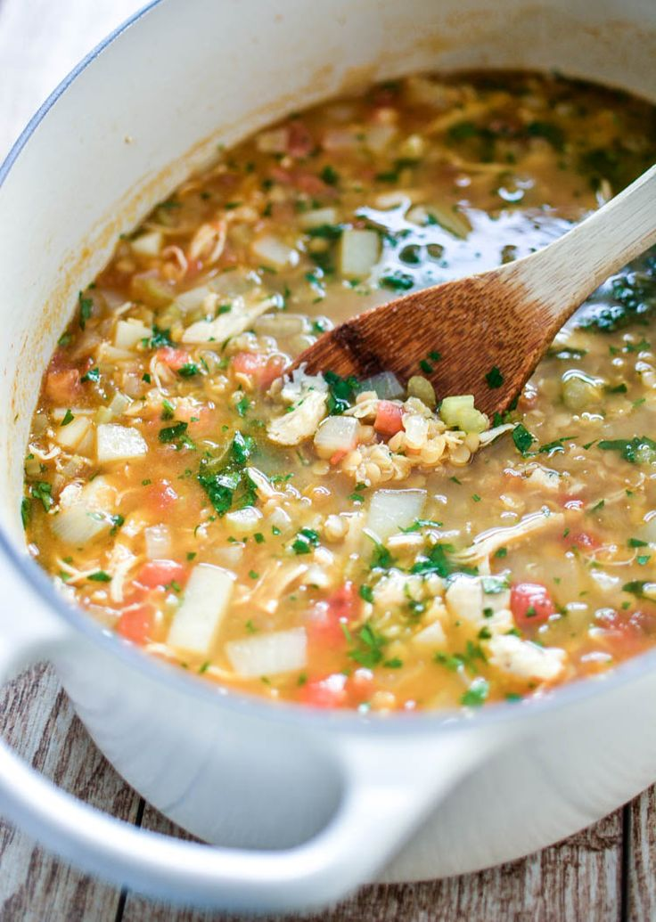 red lentil soup with chicken and turnips chicken and lentil soup soup ...