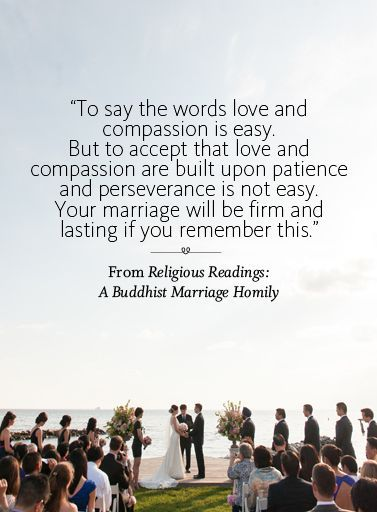 Wedding ceremony reading from Religious Readings: A Buddhist Marriage Homily