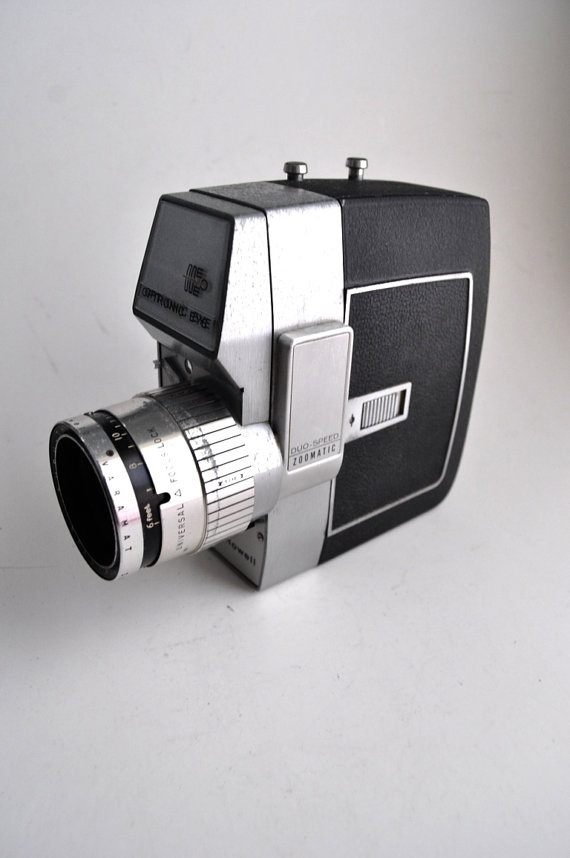 Rare Bell Howell Animation Optronic Eye Duo Speed Video Camera 8mm Film 1960s RARE. $34.00, via Etsy.