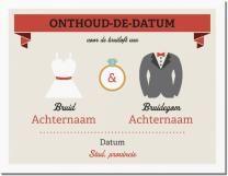 bruid en bruidegom huwelijks kleding Uitnodigingen en aankondigingen