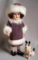 Doll's therapy. Для заболевших куклами. Платье с меховой опушкой для куклы. Оригинальная французская выкройка 1924 года.