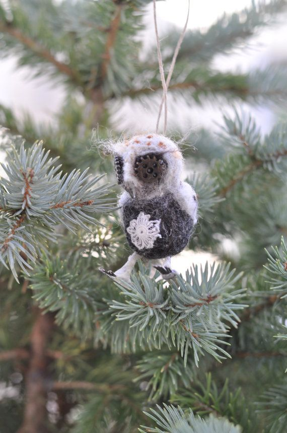 Whimsical Owl for Holiday Decoration by INACHEshop on Etsy