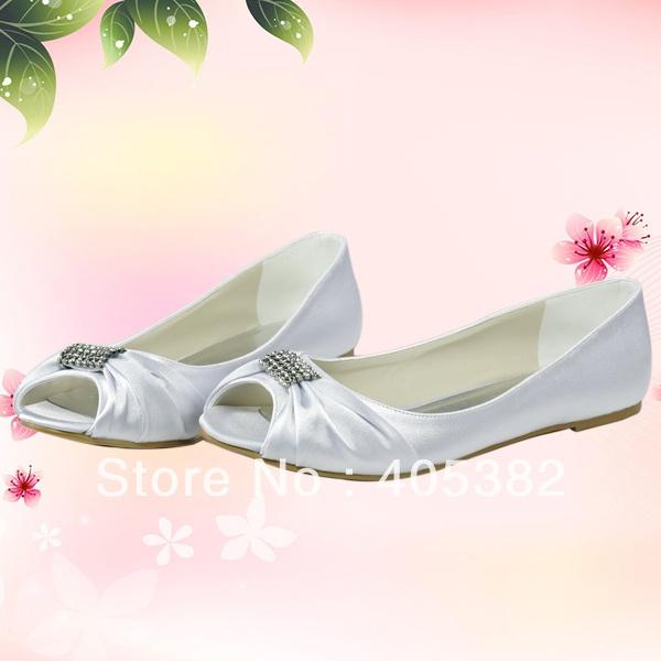Crystals Rhinestone Ivory Bridal Wedding Shoes Flats Size 34~42 Free/Drop Shipping on AliExpress.com. 10% off $37.71