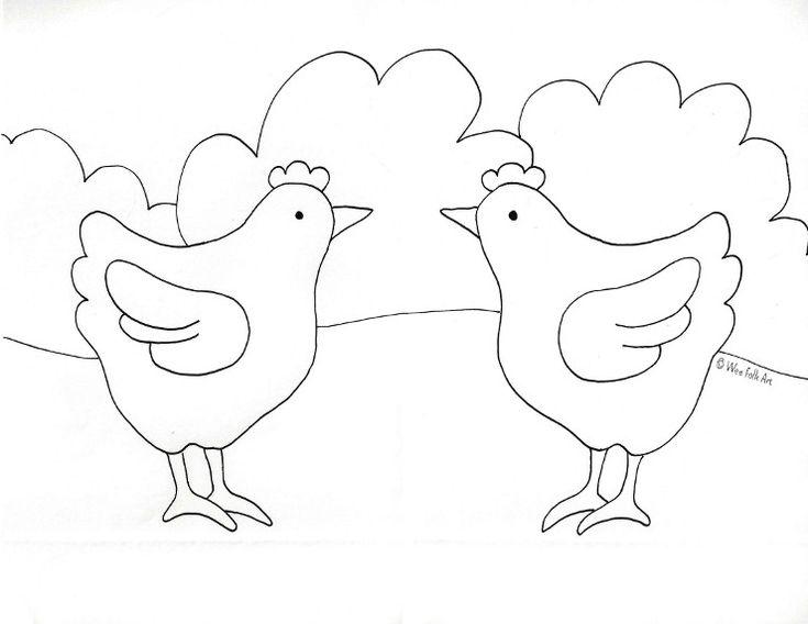 barnyard chicken coloring page from weefolkartcom
