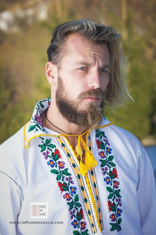 Hand stitched men's shirt from Moldova - Romania Bohemian Boho style vishivanka fashion worldwide shipping #vyshyvanka #romanianblouse #ia #ieromaneasca #bohostyle #bohemian #fashion #embroidery #handmade