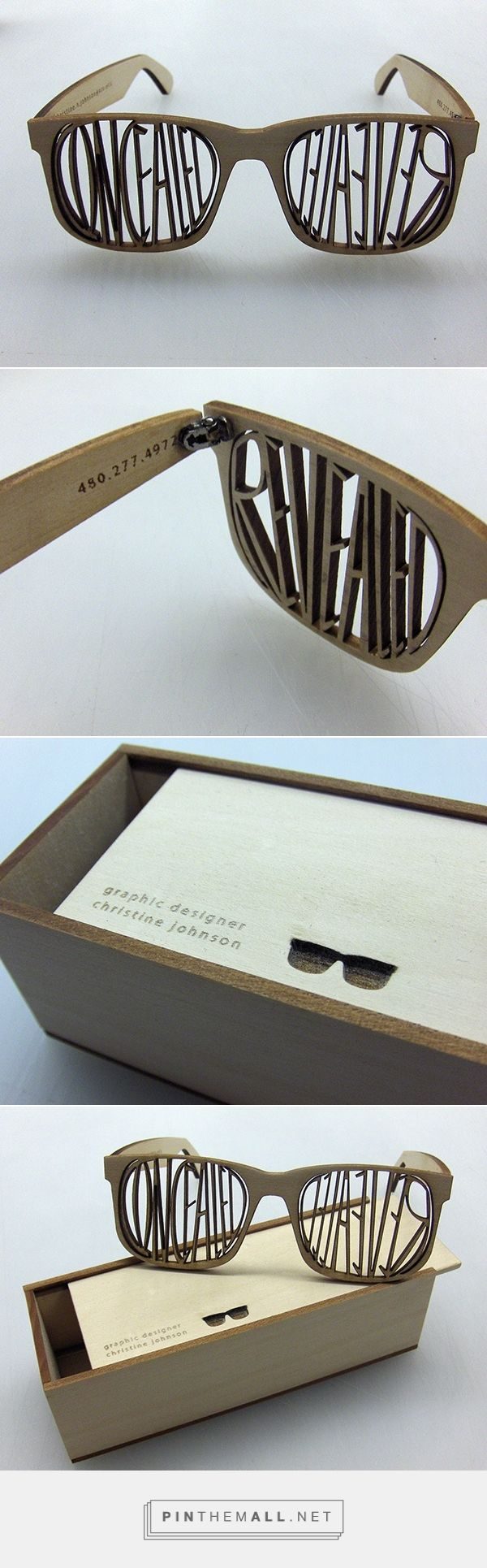 Graphic design and packaging for a Self Promotion Piece on Behance by Christine Johnson Seattle, WA. How cool are these sunglasses as a promotion piece?