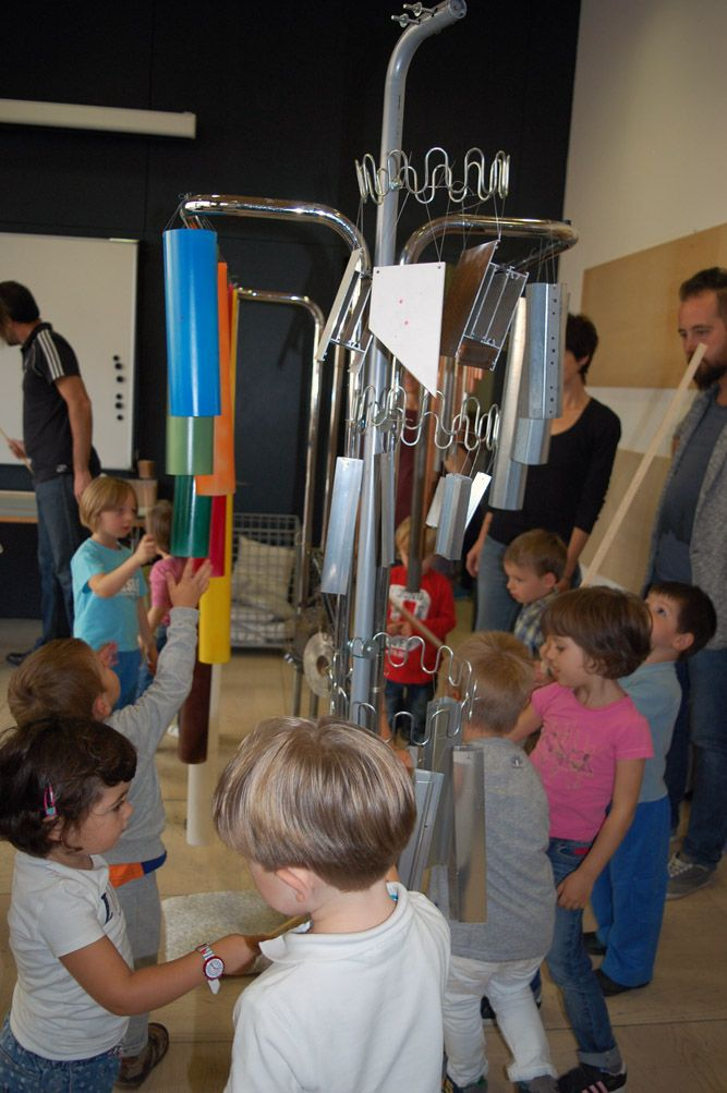 Tutto suona!, workshop for childrens by Chiara Raffaelli, Mart up! vivi il museo, october 2014
