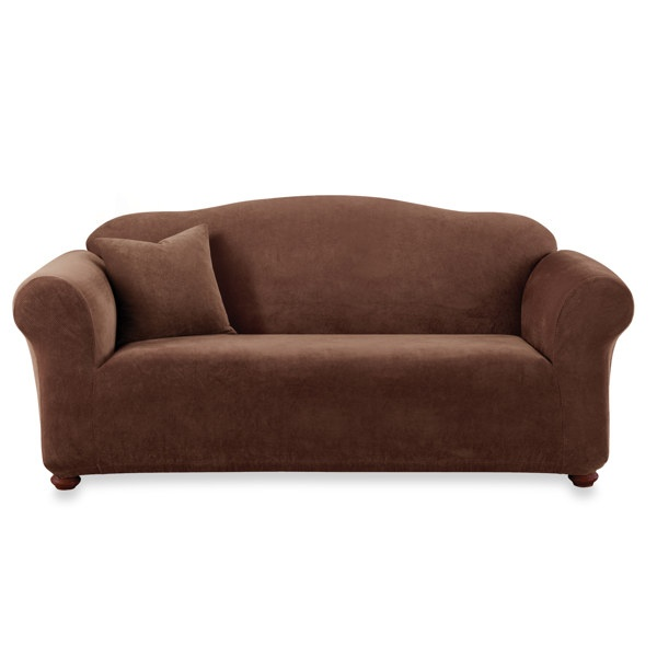 Sure Fit 174 Stretch Sterling Chocolate Sofa Slipcover Bed