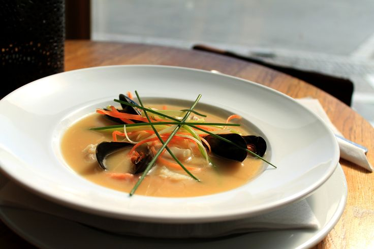 Fish Soup with Mussels, Work for Restaurant Lille, Trondheim, Norway.